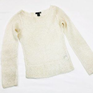 H&M beaded mohair sweater